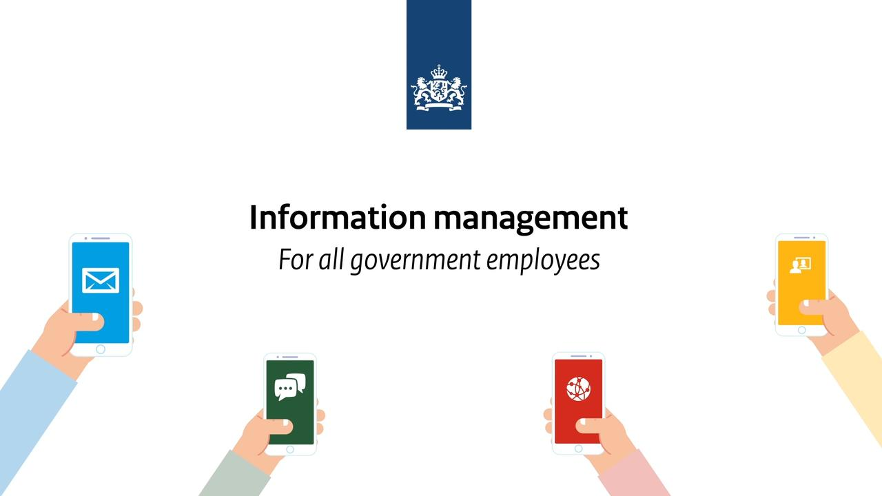 Afbeelding bij video: Information management - Take it home!