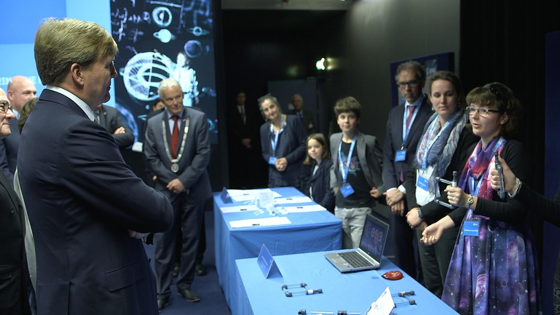 Koning bij viering 50 jaar Europese samenwerking in de ruimte