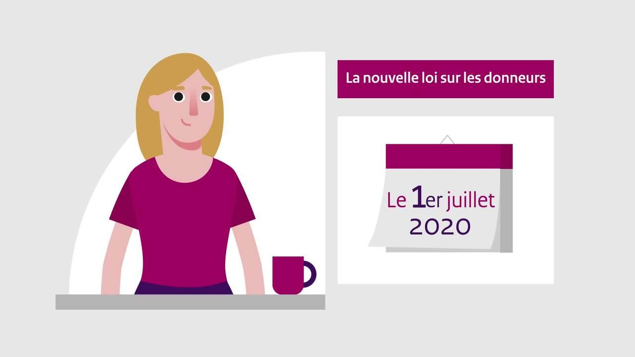 Afbeelding bij video: Animation | The new Donor Register -  French